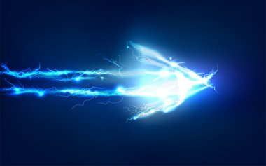 Arrow, Abstract background made of Electric lighting effect