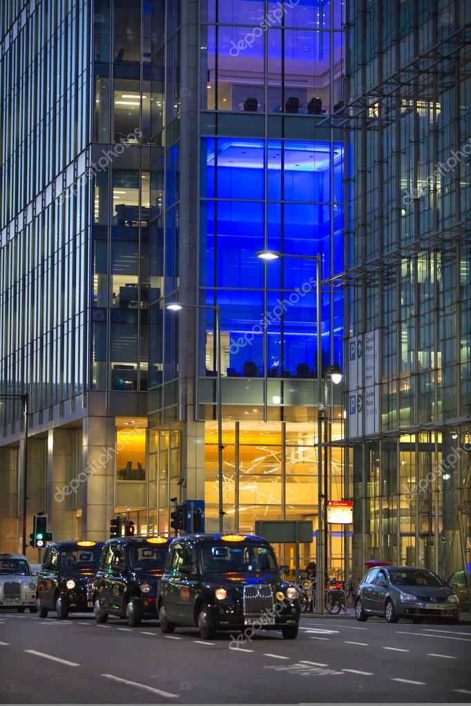 LONDON, UK - 7 SEPTEMBER, 2015: Canary Wharf, upper bank