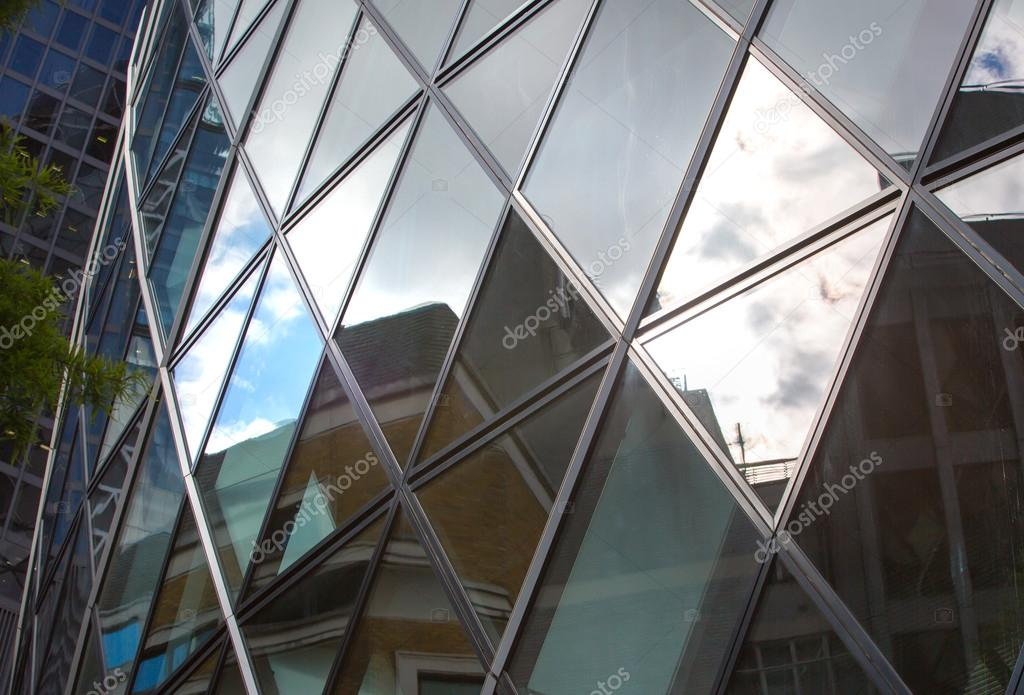 Gherkin Building Glass Texture Modern English Architecture City Of London Stock Photo