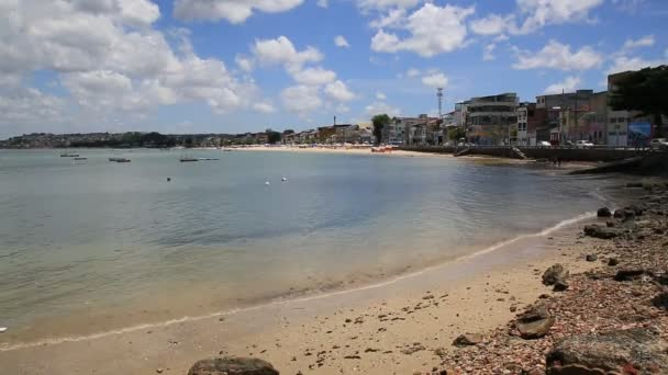 salvador, bahia, brazil - january 4, 2021: view of Ribeira beach, in the region of the Itapagipe peninsula in the city of Salvador.