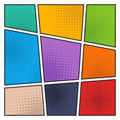 Photo Comic halftone background, vector illustration