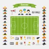 Fotografie Soccer Icons set.