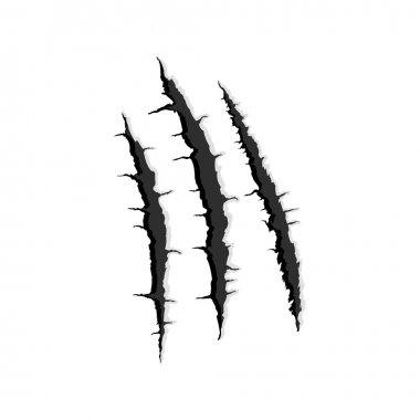 Three vertical trace of monster claw