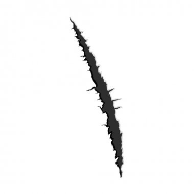 One black vertical trace of monster claw
