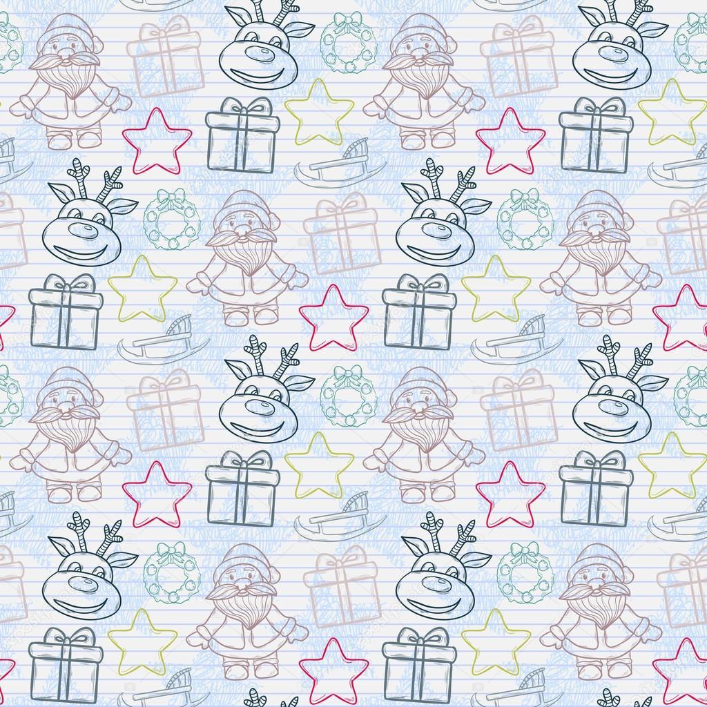 Vector abstracto Navidad de patrones sin fisuras — Vector de stock ...