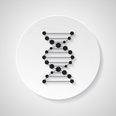 Medical dna connection icon element