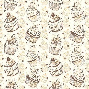 Cupcake baking seamless