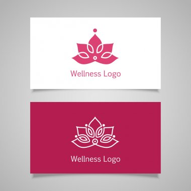 Lotus symbol business card