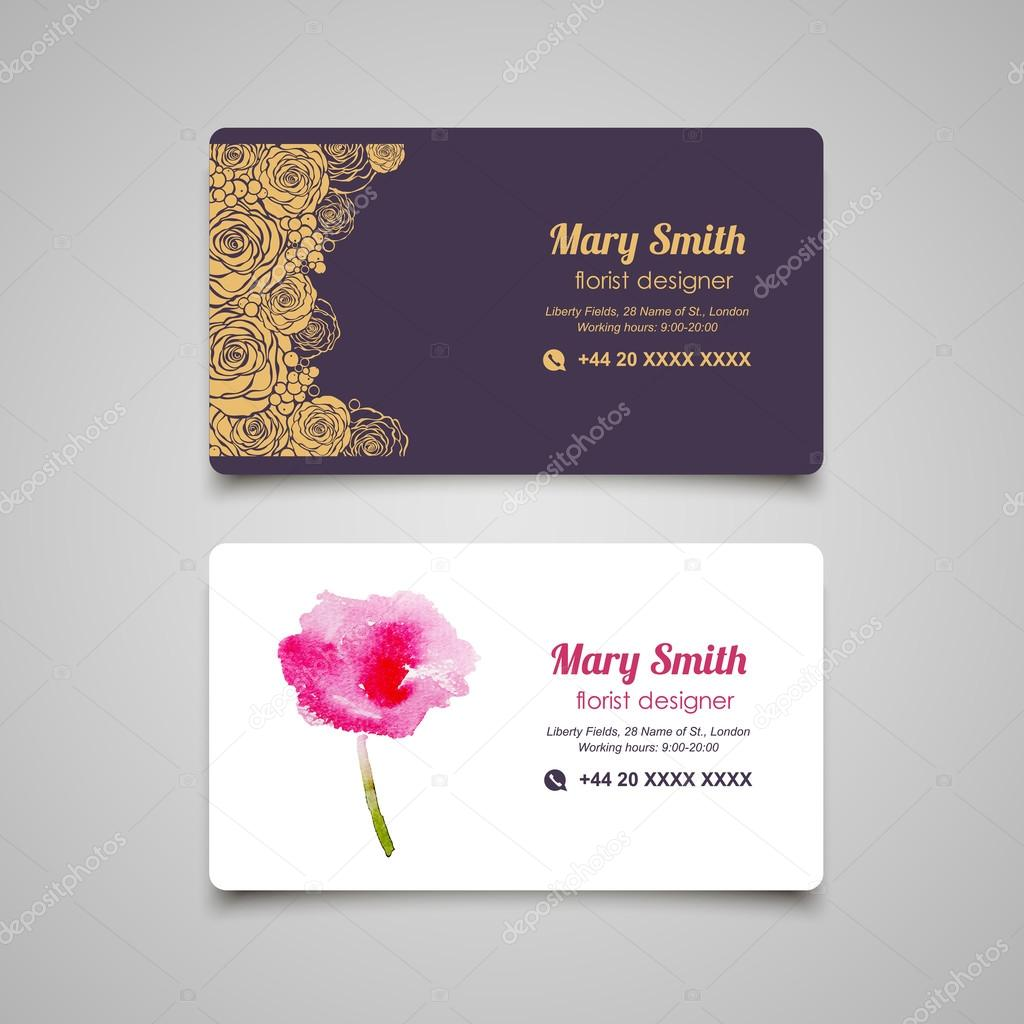 Florist business card — Stock Vector © lub_lubachka #68599485