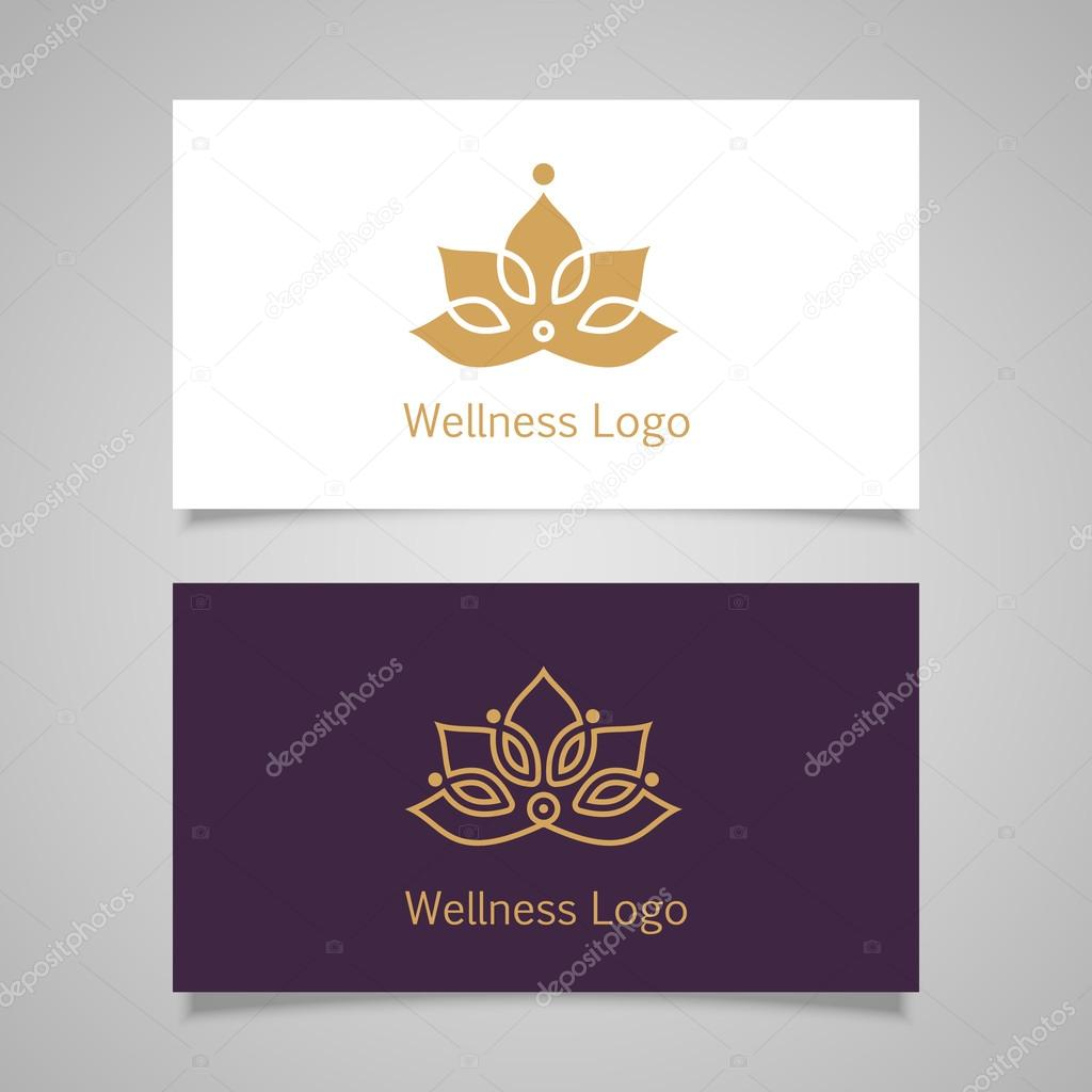 Lotus symbol business card — Stock Vector © lub_lubachka #68599507