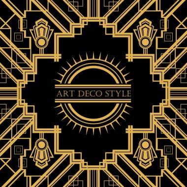 Art Deco vintage decorative frame.