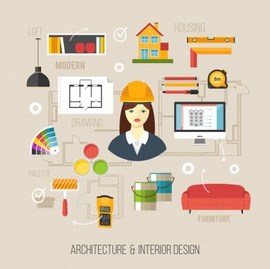 Architecture and Interior icons