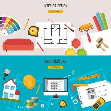 Architecture, Interior design banners