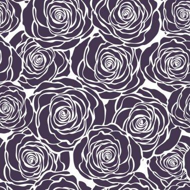 Art Deco floral pattern