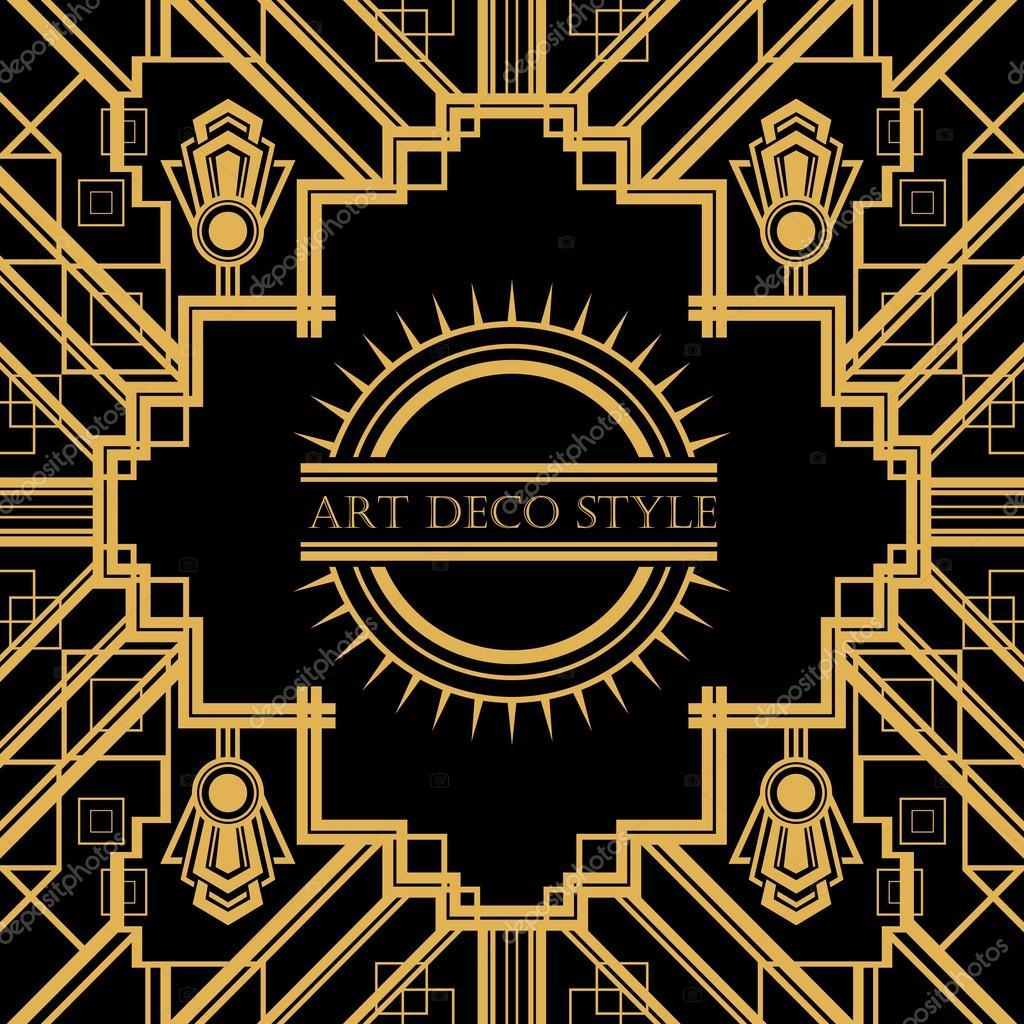 Cornice decorativa vintage art deco vettoriali stock for Designer di mobili francesi art deco