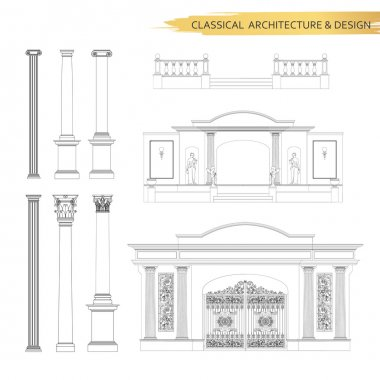 Classical architectural form drawings