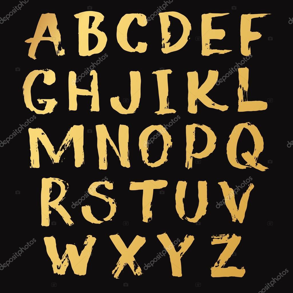 black alphabet a z hand written stock vector lub lubachka 90971252