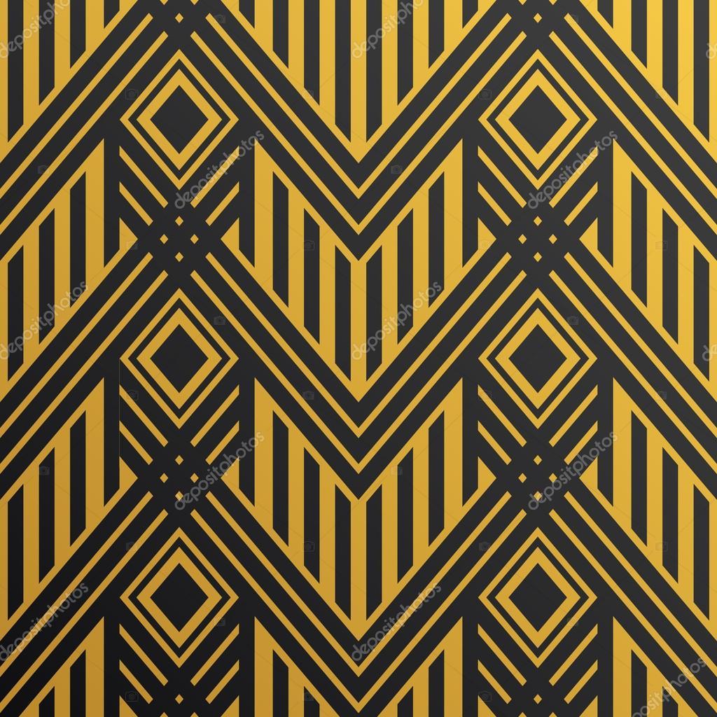 Art Deco Motif De Papier Peint Sans Soudure Motif Decoratif Vecteur