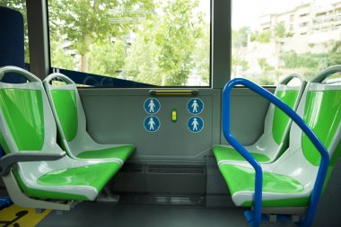 Place for disabled people and babies in a bus