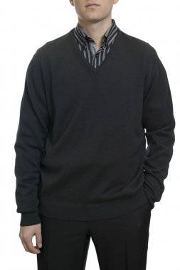 Unknown man with black sweater
