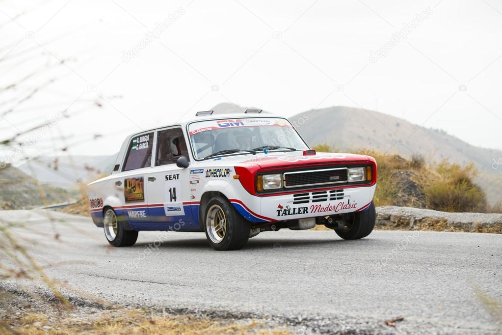 GRANADA, SPAIN - SEP 27: Unknown Racer in the