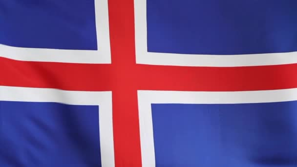 nationale vlag van ijsland in slow motion — stockvideo © kb