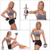 Fitness a cvičení ženské kulturista