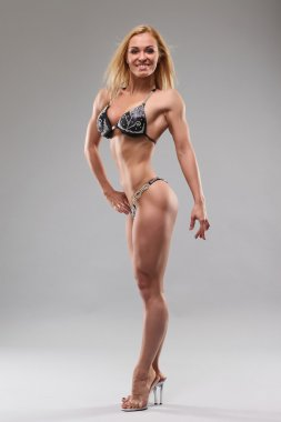 Woman with perfect athletic body