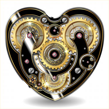 steampunk mechanical heart