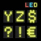 Fényképek LED betűtípus