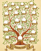 Fotografie Family Tree template vintage vector illustration