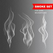 Izolované realistické cigaretového kouře vektorové ilustrace