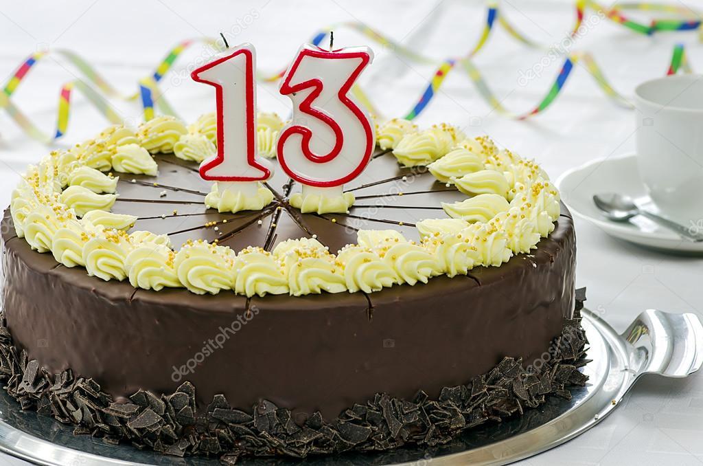 Creamy Chocolate Birthday Cake Stock Photo Janherodes 62559925