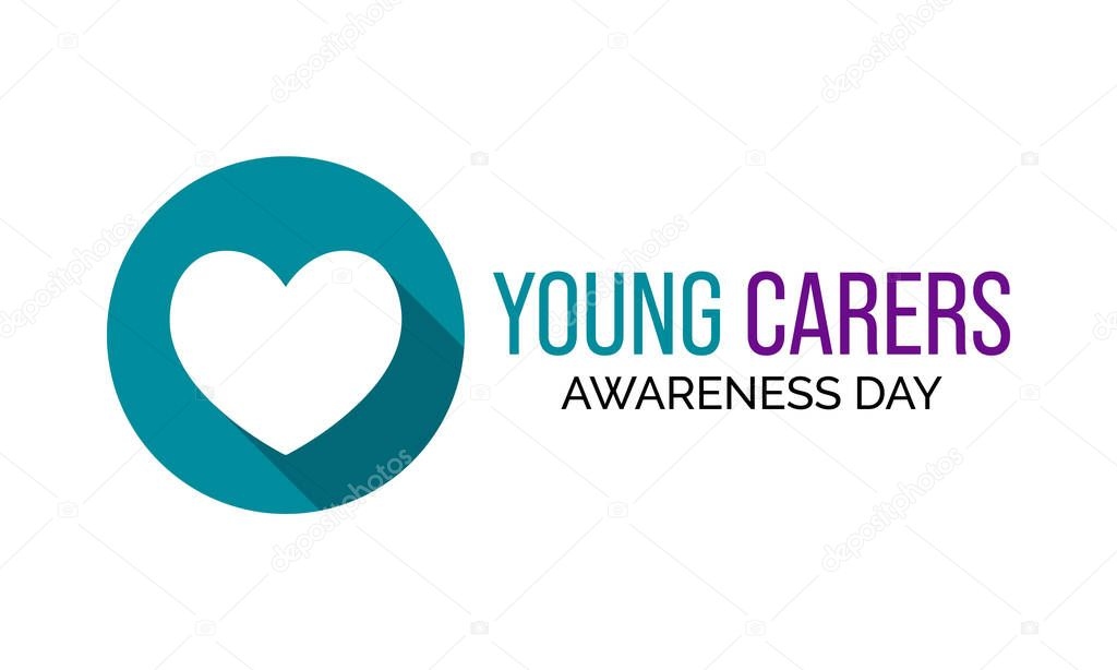Vector illustration on the theme of Young Carers awareness day observed each year during January. icon