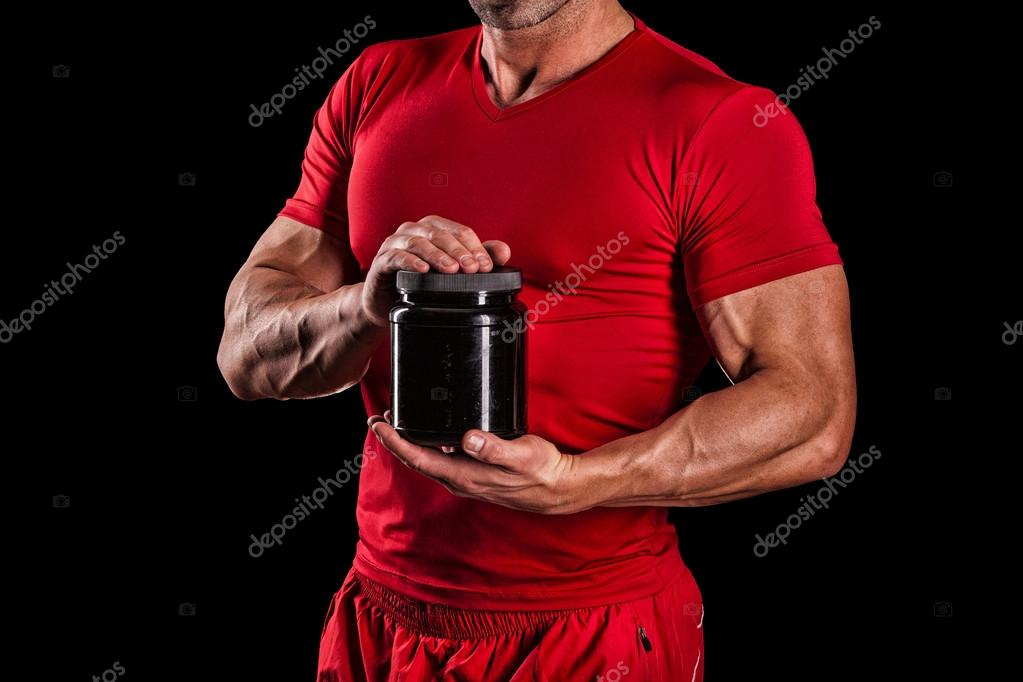 sport, bodybuilding, strength and people concept - young man sta