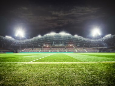 stadium lights at night