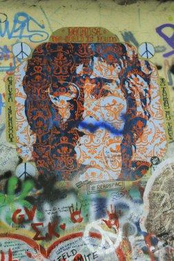 The Lennon Wall ,PRAGUE, CZECH REPUBLIC