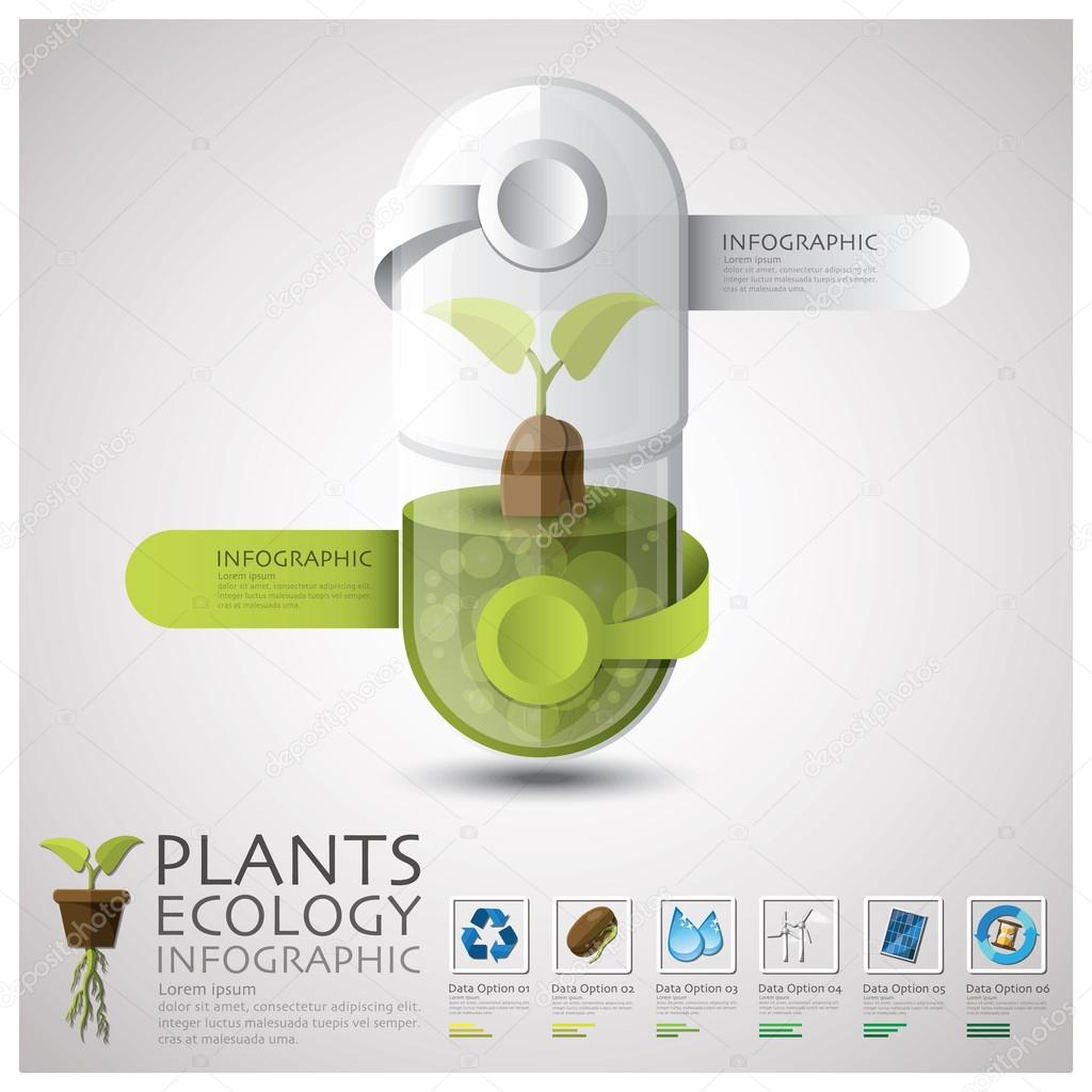 Pill Capsule Plant Ecology And Environment Infographic