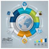 Ecologia globale e ambiente conservazione Infographic con Rou