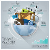 Global Travel And Journey Infographic With Round Circle Diagram