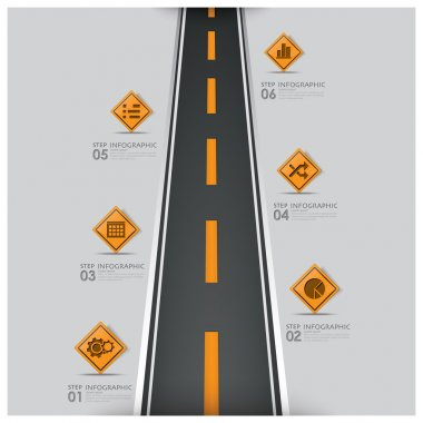 Road And Street Traffic Sign Business Infographic