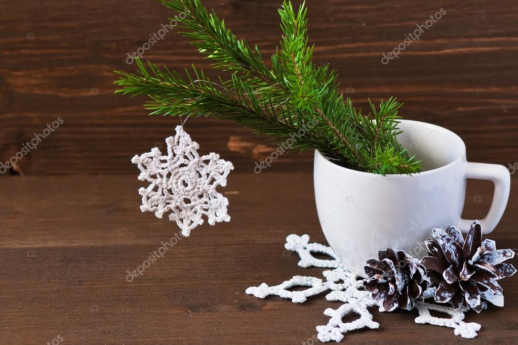 Weihnachten Konzept Dekoration Häkeln Sie Weihnachten Weihnachten