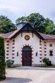 Photo Horse stables in the courtyard of the Hermesvilla in Vienna, Austria