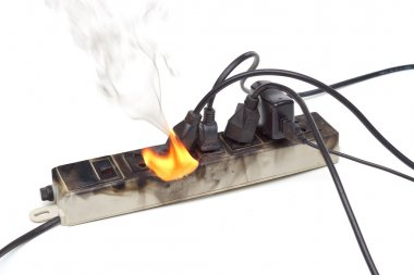 Surge protector caught on fire
