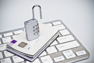 Open security lock on credit cards