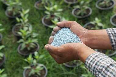artificial fertilizer close up