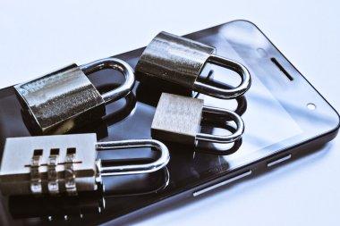 Smartphone data theft concept