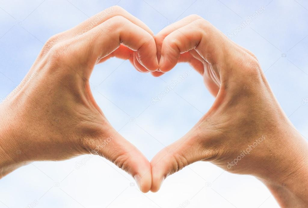 Heart Symbol Made With Two Hands Stock Photo Weerapat 73839195