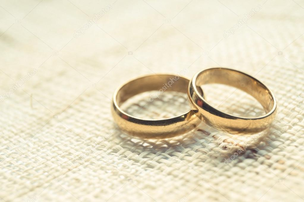 Wedding Rings On Cloth Texture Stock Photo C Weerapat 81611456