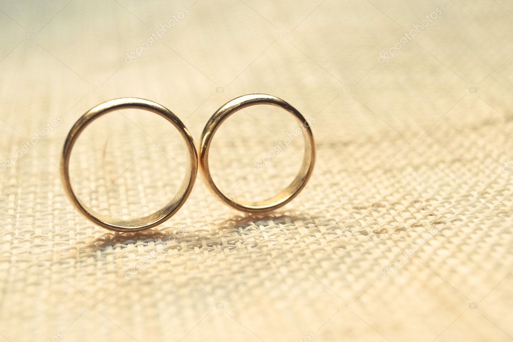 Wedding Rings On Cloth Texture Stock Photo C Weerapat 81611486